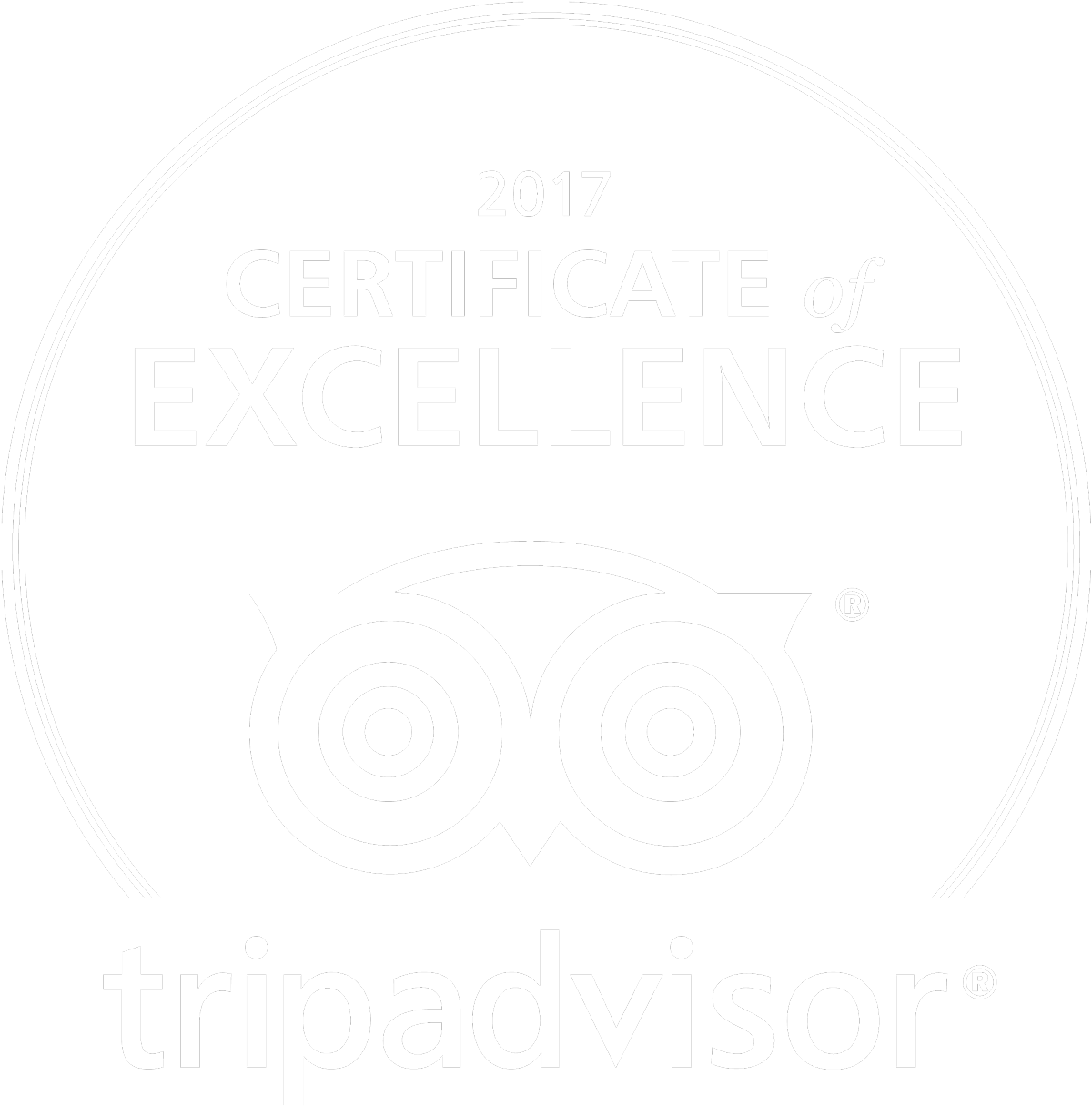 TripAdvisor 2017 certificate of excellent